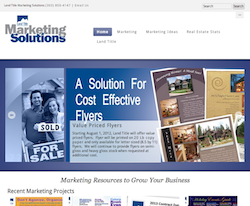 Land Title Marketing Solutions screen shot